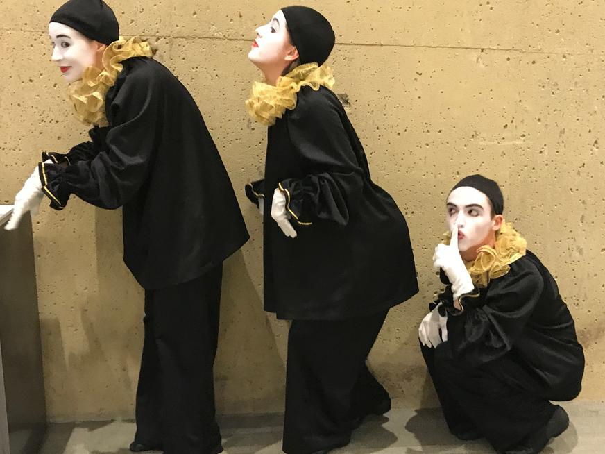 Three mimes