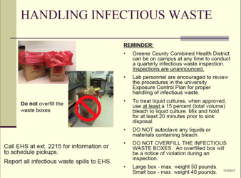 Infectious Waste Handy Reference