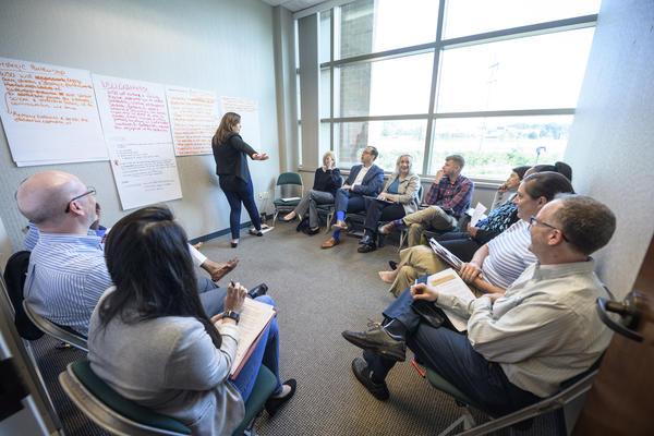 Group discussion at a planning session