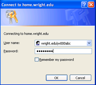 screen capture of the enter password window
