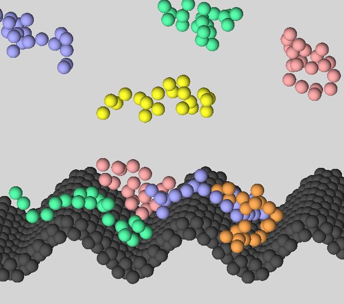 Molecular dynamics simulation study of polymer slip flow