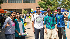 photo of students at an event on campus