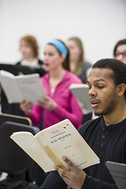 photo of students in a music class