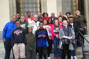 photo of students and staff on the Civil Rights Pilgrimage