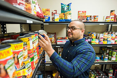 Volunteer Friendship Food Pantry Student Affairs Wright