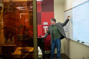 photo of a professor teaching