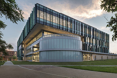 photo of the neuroscience engineering collaboration building
