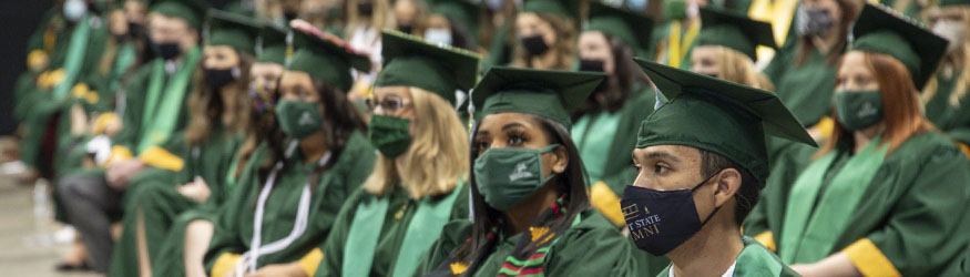 photo of graduates at commencement