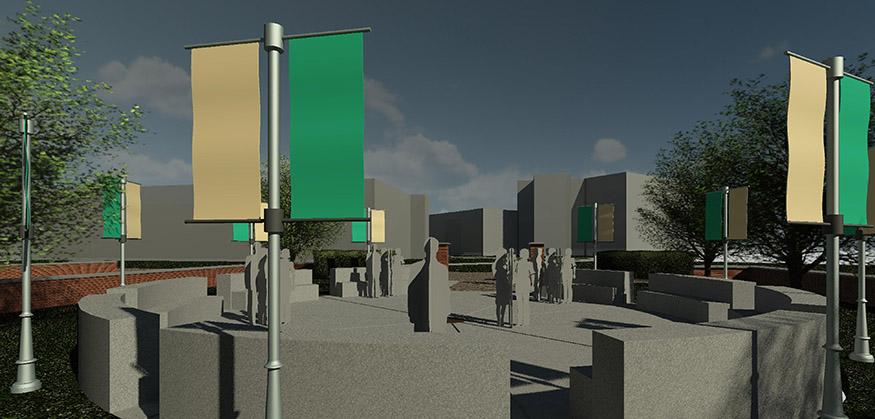 rendering of the nphc memorial plots