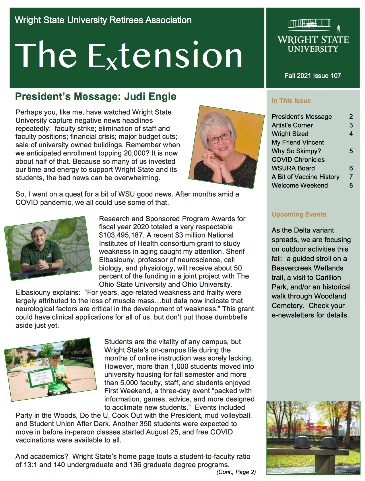 Cover of the Fall 2021 Extension