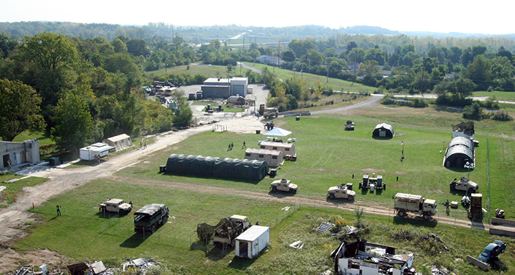 Aerial photo of Calamityville