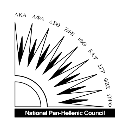 Logo for the National Pan-Hellenic Council, featuring the Divine 9 organizations.