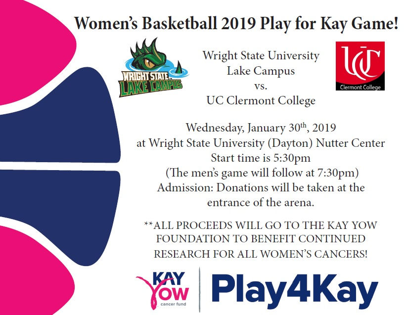 Uc Clermont Campus Map.Women S Basketball Play For Kay Game Wright State University