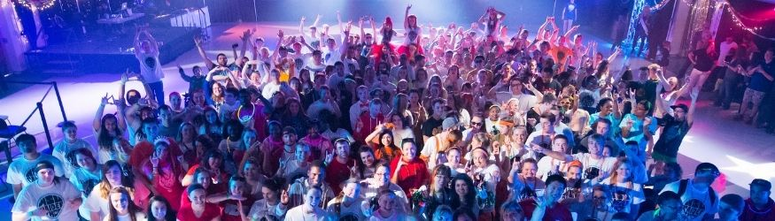 A large group of people at Raiderthon