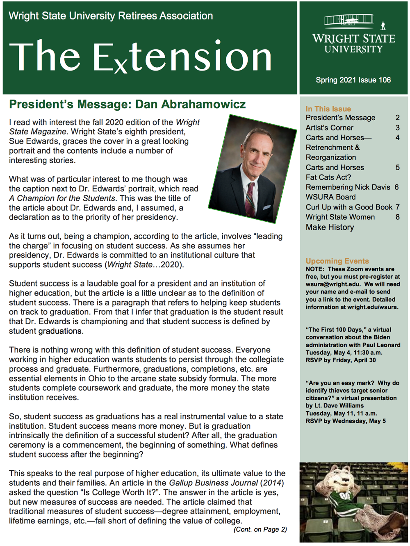 Spring Extension newsletter