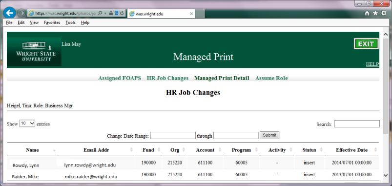 HR Job Changes