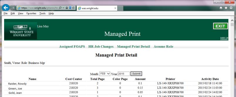 Managed Print Detail