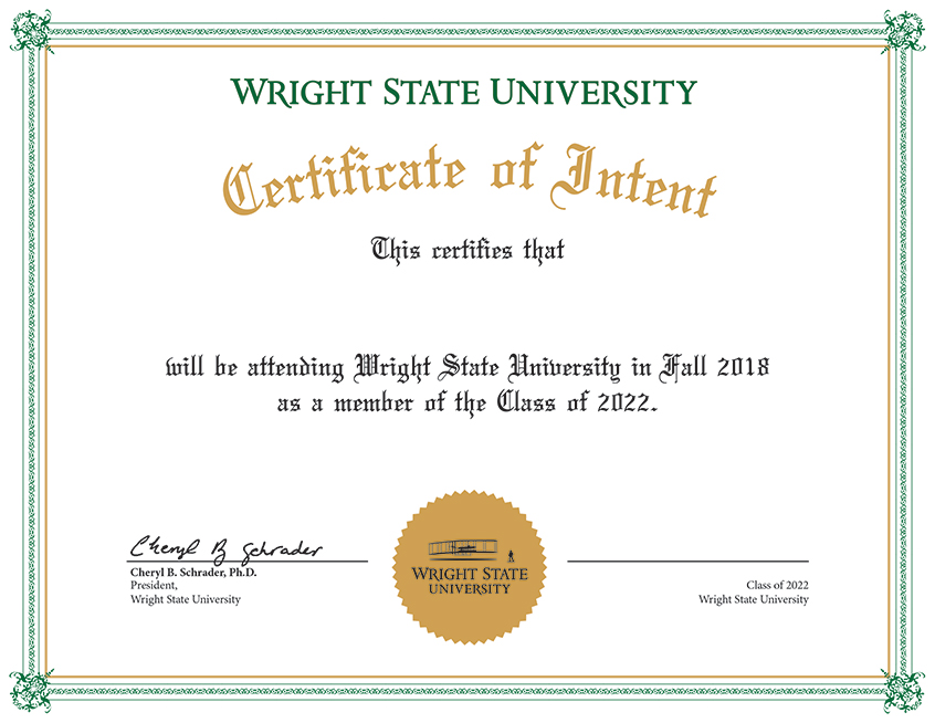 Signing Day Certificate