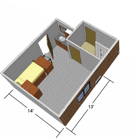 Woods Super Single floorplan