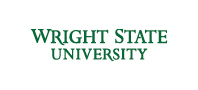 Wright State 2-line wordmark green