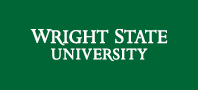 Wright State 2-line wordmark white