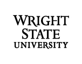 Wright State 3-line wordmark black