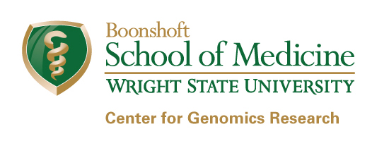 Wright State Boonshoft School of Medicine Center for Genomics Research logo - fullcolor