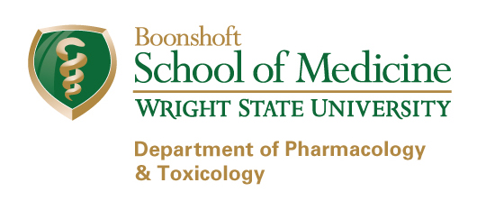 Wright State Boonshoft School of Medicine Department of Pharmacology & Toxicology logo - fullcolor