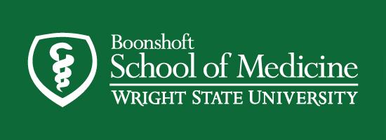 Wright State Boonshoft School of Medicine primary logo - white