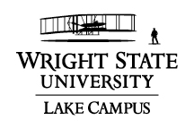 Wright State Lake Campus primary logo - black