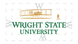 Wright State University primary logo - clear space around logo