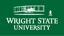 Wright State primary logo - white