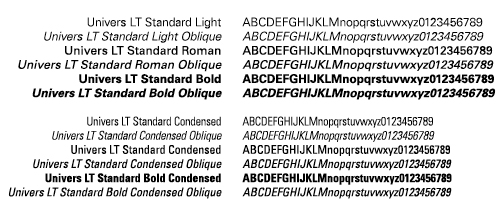 Wright State primary typeface - Univers