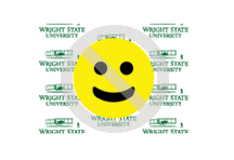 Wright State Violation - obscuring logo