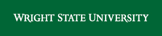 Wright State wordmark white