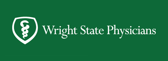 Wright State Physicians primary logo - white