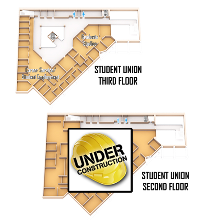 Wright State Student Union second and thrid floors Map
