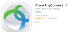 screen capture of the cisco anyconnect icon for ios devices