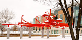 photo of campus in the winter