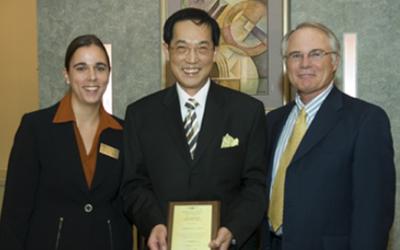2006 International Education Award Recipient was Andrew Lai,Ph.D., Professor Emeritus, Interim Chair of the Department of Inform