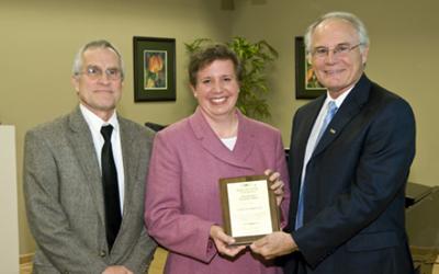 2008 International Education Award Recipient was Dr. Laura M. Luehrmann PHD, Associate Professor of Political Science, Director