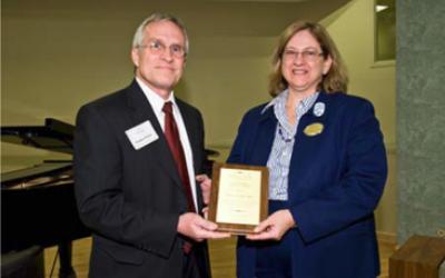 Dr. Donna Miles Cury, Ph.D., Associate Dean, Graduate Programs and Associate Professor College of Nursing and Health , was award