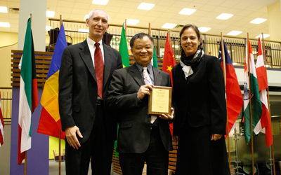 George Huang, Ph.D., is this year's recipient of the university's International Education Award.