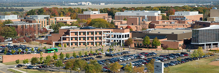 overshot of the wright state campus