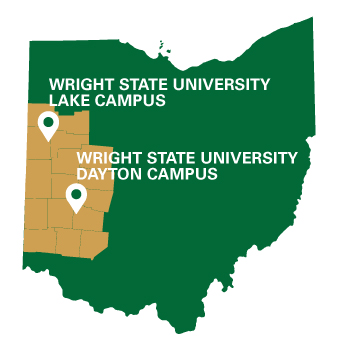 About Our Region Wright State University - Us regions map ohio dayton
