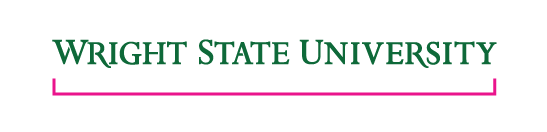 Wright State University wordmark  - The height may not drop below 2 in.