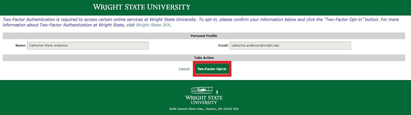 Two-Factor Authentication | CaTS | Information Technology | Wright