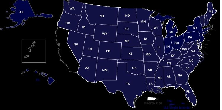 Map of NC-SARA States