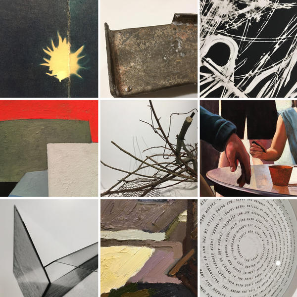 Collage of faculty artwork