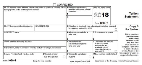IRS Form 1098-T | Enrollment Services | RaiderConnect ...